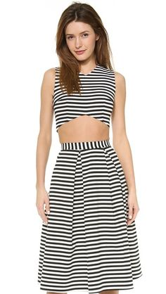Nicholas Striped Crop Top and skirt $199 & $299 via ShopBop