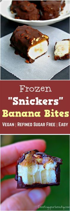 "Vegan Frozen ""Snickers"" Banana Bites 