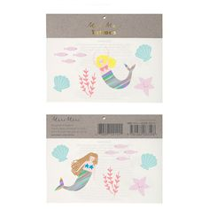 Mermaids Temporary Tattoos ($2.45) ❤ liked on Polyvore featuring accessories and body art