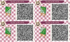 my name is claudia and you can find qr codes for animal crossing here! I also post non qr code related stuff so if you're only here for the qr codes please just blacklist my personal tag. Acnl Pfade, Qr Code Animal Crossing, Acnl Paths, Motif Acnl, Leaf Man, Ac New Leaf, Pokemon, Happy Home Designer, Kid Icarus