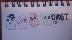 Drew what i think the ghosts looked like before most of them turned corporeal