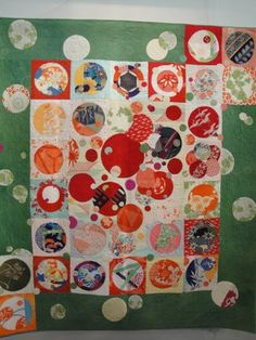 Japanese circles and squares quilt