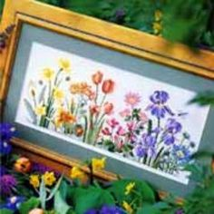 Spring Floral Cross-stitch - free