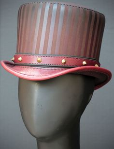 Baron Leather Circus Steampunk Top Hat in Burgundy by Subverse Steampunk Top  Hat 146dd1baeca5