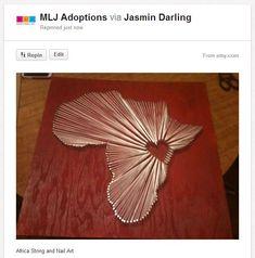 Fundraising Crafts: Nail And String Art   MLJ Adoptions   Adjustment   Resources  