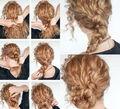40 hairstyles for Naturlocken to make your own with instructions - New Hair Styles 2018 Curly Hair Styles, Curly Hair Cuts, Long Curly Hair, Natural Hair Styles, Cool Braid Hairstyles, Headband Hairstyles, Bob Hairstyles, Fashion Hairstyles, Men's Hairstyle