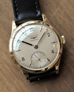 Longines Manual Wind Chronometer In 18K Solid Yellow Gold Circa 1950s - Dad had a watch like this.