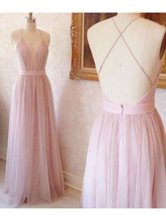 Hot Sale Admirable Pink Prom Dresses, Long Evening Dresses, Backless Prom Dresses, A-Line Prom Dresses Tulle Bridesmaid Dress, Pink Prom Dresses, Backless Prom Dresses, A Line Prom Dresses, Cheap Prom Dresses, Stylish Dresses, Sexy Dresses, Dress Prom, Party Dress