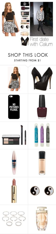 """""""First date with Calum"""" by infinitive-one-direction ❤ liked on Polyvore featuring Forever 21, Giuseppe Zanotti, Casetify, OPI, NARS Cosmetics, Hot Topic, Maybelline, MAC Cosmetics, Accessorize and Cartier"""
