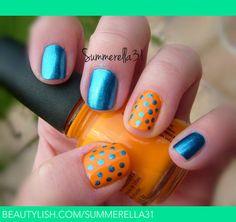 OKC Thunder Nails | Summer A.'s (summerella31) Photo | Beautylish