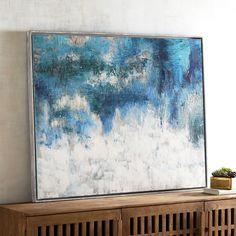 Indigo Encounter Abstract Art Blue