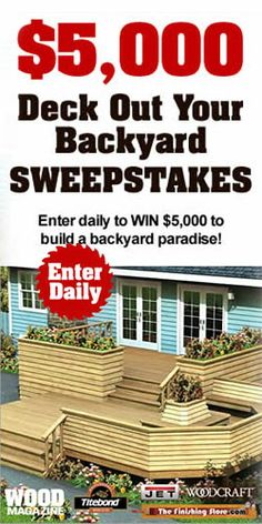 $5,000 Deck Out Your Backyard Sweepstakes