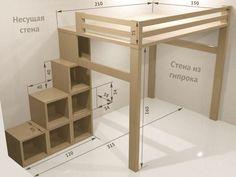 "Resultado de imagen de crib loft do it yourself # . - Resultado de imagen de crib loft do-it-yourself # ""bunkbeddesignsdiy"" - Build A Loft Bed, Loft Bed Plans, Diy Bed Loft, Loft Bed Dorm, Bunk Beds With Stairs, Kids Bunk Beds, Loft Bed Stairs, Loft Bunk Beds, Kids Beds Diy"