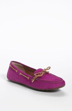 Sperry Top-Sider Moccasins in a rich purple hue.