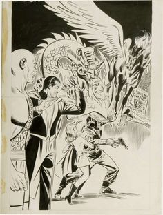 Original Don Heck cover to Mandrake the Magician #1 - King Features  - comic written by Dick (Jet Dream) Wood with Don (Avengers) Heck & Werner (X-Men) Roth artwork! Stunning piece!