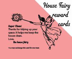 we wilsons: 5 Homeschool-y Printables: House Fairy Reward Cards