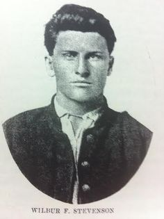 """Sergeant Wilbur F. Stevenson, Company D, 10th Indiana Infantry. Wilbur stated he """"stopped a bullet with his knee,"""" during the battle of Chickamauga, September 19, 1863. He would spend the rest of the war recovering and doing hospital duty at Madison, Indiana. (Glad he didn't stop that bullet with his face!!)"""