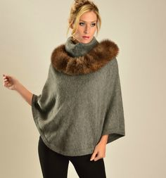 6aabc62aa2b BABY ALPACA SNOOD WITH ALPACA FUR WITH MATCHING BABY ALPACA V- NECK PONCHO  An elegant deal awaits you when you purchase the Anne Poncho and Sarah  Snood ...