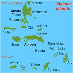 map of Maluku