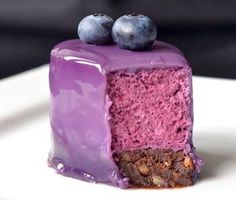 Blueberry Mousse Cake.. Would be awesome with white and purple marble inside...just sayin..