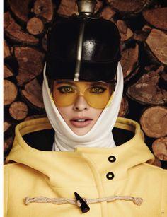 Vogue Germany, vintage ski style. 1960s.