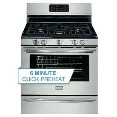 Frigidaire 30 in. 5.0 cu. ft. Gas Range with Self-Cleaning Convection Oven in Stainless Steel-FGGF3054MF at The Home Depot