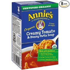 Annie's Homegrown Soup, Creamy Tomato and Bunny Pasta, 17 Ounce (Pack of 8)