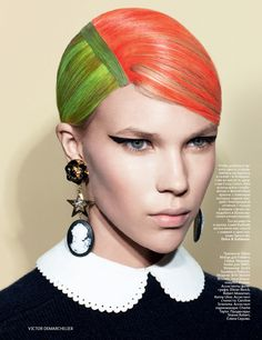 Hair story by Victor Demarchelier for Russian Vogue