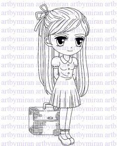 Digital Stamp-Traveling Torrie Digi Stamp Coloring by artbymiran - $3.00