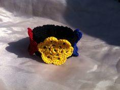 Brățara tricolor Crochet Necklace, Beanie, Hats, Jewelry, Fashion, Moda, Jewlery, Hat, Jewerly