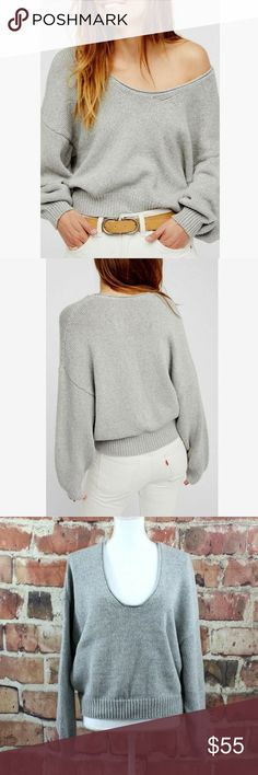 407ff1f31c509 FREE PEOPLE Sweater Perfect Day Pullover Slouchy S EUC!  Shoulder to Hem   Approx