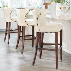 48 Kitchen Bar Stools Trends Home Decoration and Remodelling IdeasCreative Kitchen Bar Stools bar stools make a wonderful addition to your home. Leather Counter Stools, Kitchen Counter Stools, At Home Bar Stools, Counter Chair, Kitchen Bars, Kitchen Counters, Home Design, Design Design, Bar Furniture For Sale