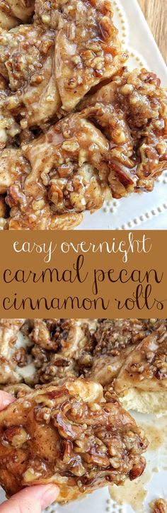 These easy overnight caramel pecan cinnamon rolls start with frozen bread dough! No yeast or rising to worry about. Simply prepare the cinnamon rolls the night before and bake up delicious, gooey, caramel pecan cinnamon for a special breakfast treat. What's For Breakfast, Breakfast Dishes, Breakfast Recipes, Dessert Recipes, Breakfast Casserole, Overnight Breakfast, Breakfast Quotes, Breakfast Healthy, Christmas Breakfast