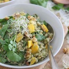 Barley Mango Salad HealthyAperture.com