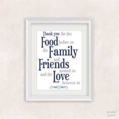 Food Family Friends Love Quote Art Print - 8x10 - Positive Quote Wall Art - Gift Idea - Item #564 by SerenityArtPrints on Etsy https://www.etsy.com/listing/200942612/food-family-friends-love-quote-art-print