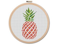 Pineapple Counted Cross stitch Pattern PDF Cross by KHANNAandILAN