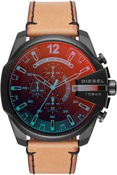 1c2ef4e0520 Diesel Mega Chief Chronograph Leather Strap Watch