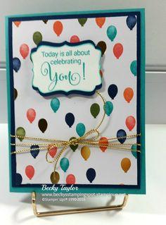 Birthday Bash, Stampin' Up!, Balloons, Birthday card