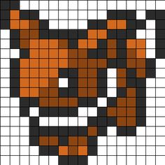 evee pokemon sprite bead pattern I'm going to use the layout to make a blanket actually..