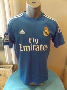REAL MADRID CF Soccer Jersey Retro 2013 14 Away Football Shirt Camisa  Trikot LFP   5fb70dfaa