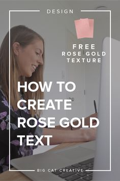 How to Create Rose Gold Text in Illustrator — Big Cat Creative | How to design rose gold text | How to make my text rose gold | How to make my text metallic | Rose gold designs | Rose gold typography | Illustrator tutorials | Step by step instructions illustrator | Illustrator tips | Design tips | Design blog | Tips for bloggers | DIY designers