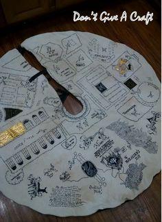 Wow. handmade harry potter maurader's map tree skirt - she also sells them on…