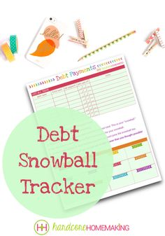 """Debt Snowball Tracker printable - This Dave Ramsey style """"snowball"""" sheet will help you get out of debt sooner. getting rid of debt how to get out of debt debt busting tips and tricks how to become debt free tips to become debt free Joyful A Dave Ramsey Debt Snowball, Debt Snowball Worksheet, Debt Tracker, Total Money Makeover, Budget Envelopes, Financial Peace, Financial Planner, Financial Tips, Get Out Of Debt"""