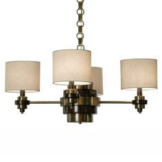 323.00 Thumprints 1120-C10-2087 Classic Contemporary 4 Light Bombay Chandelier