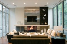 Cortland Residence - contemporary - Family Room - Other Metro - Nicholas Design Collaborative