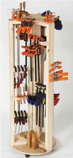 31-DP-00935 - Carousel Clamp Rack Downloadable Woodworking Plan PDF