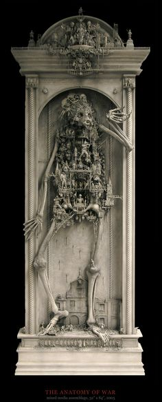 Cartouche brigade, the 3d sculptures of Kris Kuksi, the house as the body of Usher