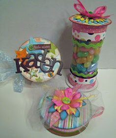 great way to recycle empty ribbon spools!!