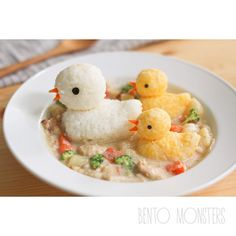 Duck cream stew bento. Cute kawaii food art