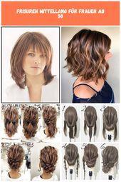 Frisuren Halblang Gestuft Ab 50 Wellen Schulterlang Modische Frisuren Fur Frauen Ab 50 Und Haarfarben Die Junger M Cool Hair Color Cool Hairstyles Hair Styles